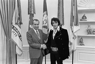 photo credit: The U.S. National Archives Richard M. Nixon and Elvis Presley at the White House via photopin (license)